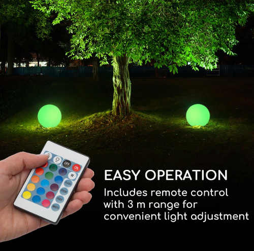 LED osvětlení zahrady ovládané dálkovým ovladačem