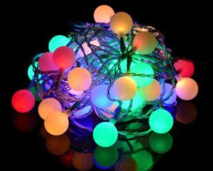 Barevný LED řetěz na párty i vánoce