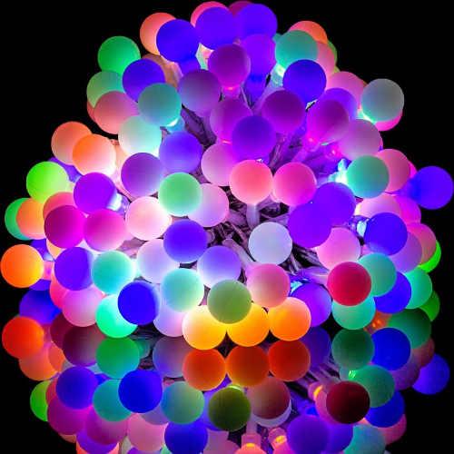 Barevný  párty LED řetěz velké maxi diody
