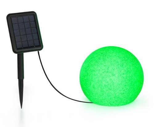 Elegantní a moderní solární lampa do zahrady v žulovém vzhledu
