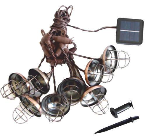 Industriální LED solární osvětlení terasy