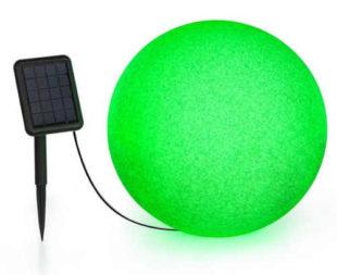 Kulatá solární zahradní lampička měnící barvy