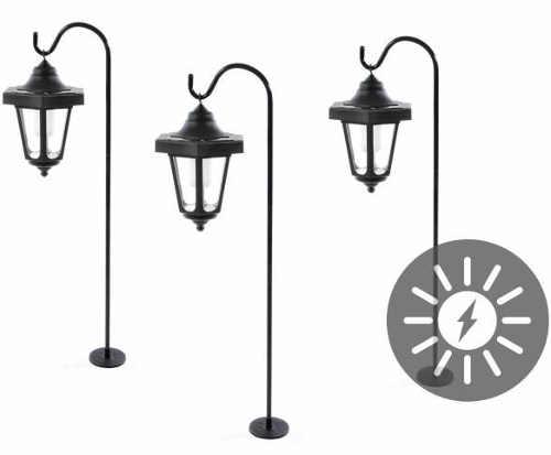 Sada 3 ks romantických zahradních solárních LED luceren