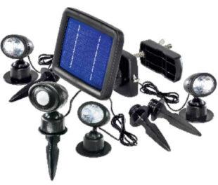 Solární LED osvětlení s detektorem pohybu Esotec Trio - 3 ks