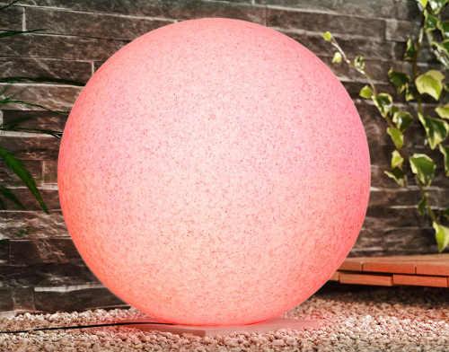 Svítící solární LED koule na zahradu