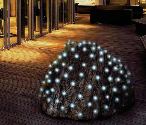 Vánoční světelná LED síť na zahradní keře