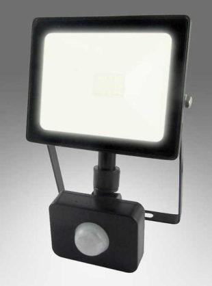 Venkovní LED reflektor s čidlem 10W Flat