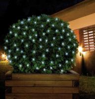 Venkovní LED síť na ozdobení keřů