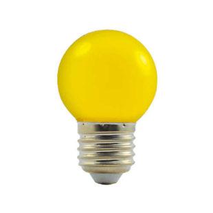 LED žárovka s kulatou baňkou E 27 žlutá