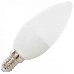 Úsporná LED žárovka svíčka E14
