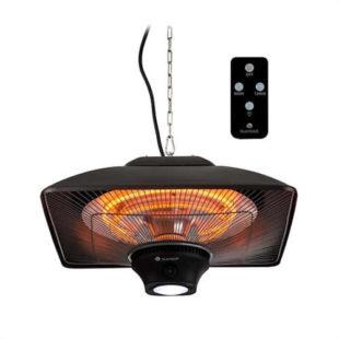Infračervený ohřívač s integrovanou LED lampou