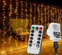 Světelný závěs vánoční s dálkovým ovládáním