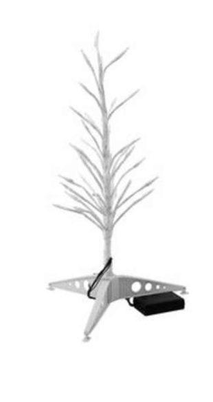 Bílý LED stromek 155 cm