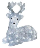 LED vánoční dekorace v podobě svítícího jelena