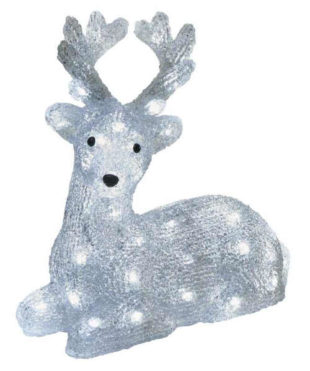 LED venkovní ozdoba v podobě svítícího jelena