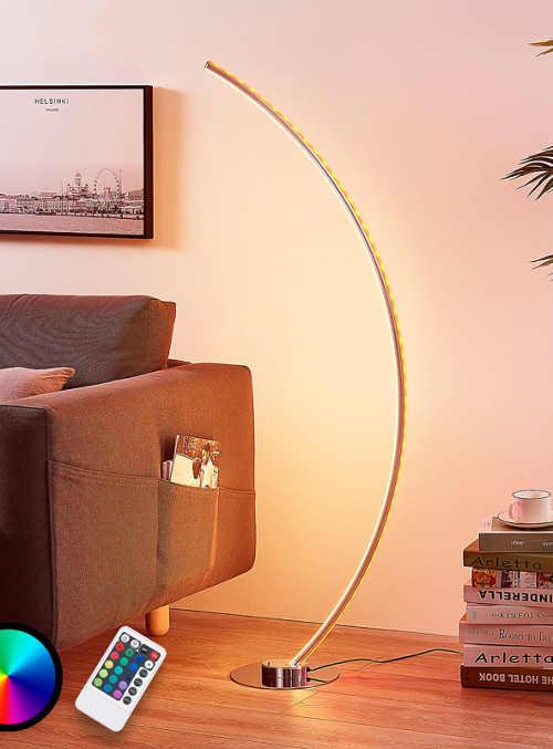 Moderní interiérová stojací LED lampa