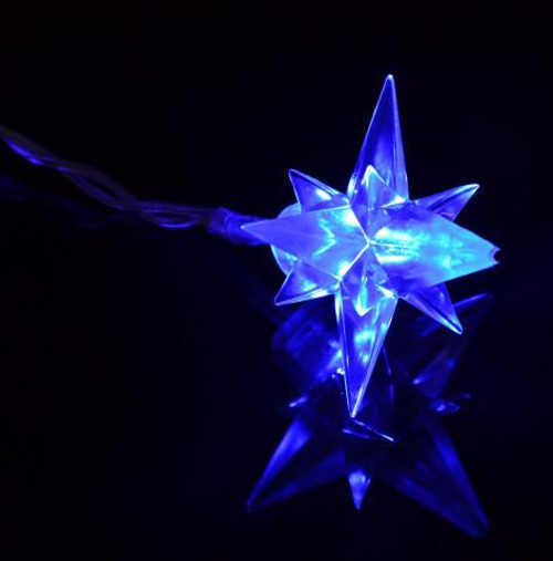 led vánoční modré hvězdy