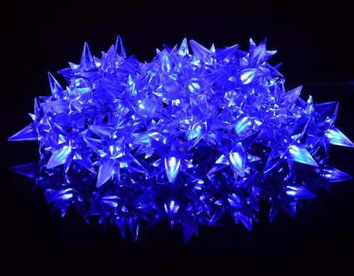 světelný led řetez s hvězdami