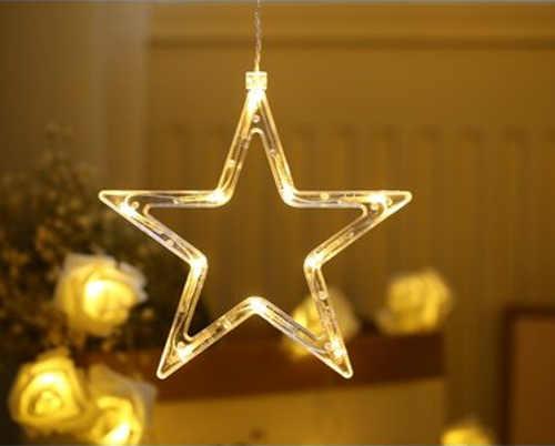 vánoční osvětlení svítící hvězdy