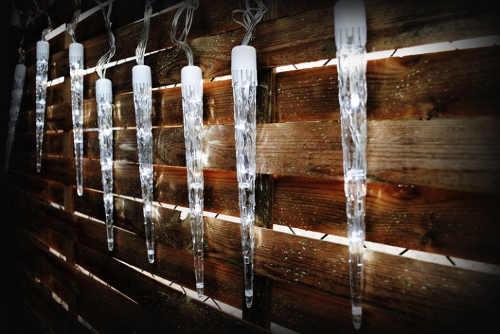 Vánoční osvětlení Svítící 30cm rampouchy