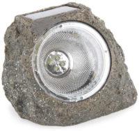 Venkovní solární svítidlo ve tvaru kamene