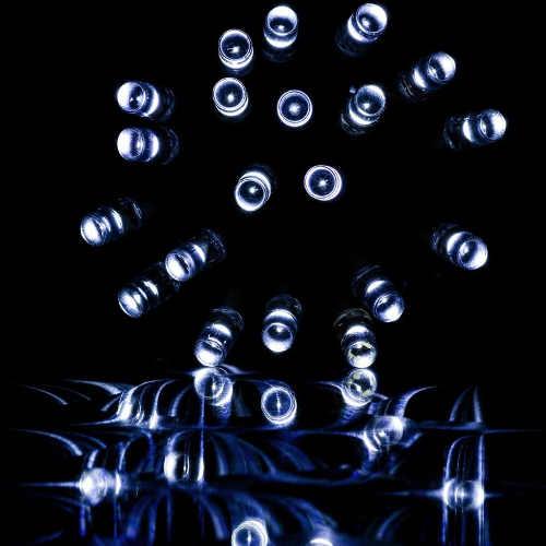 Venkovní vánoční řetěz z bílých led diod