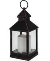 Černá lucerna s LED svíčkou