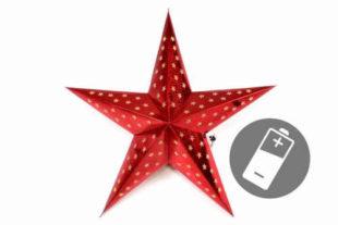 Červená vánoční hvězda s časovačem