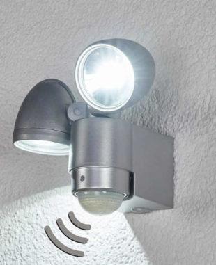 LED nástěnný zářič s detektorem pohybu