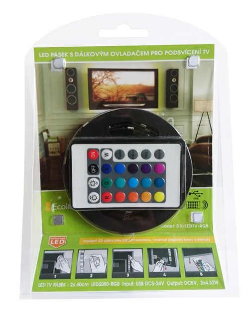 LED pásek s dálkovým ovládáním pro podsvícení televize