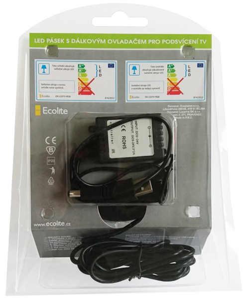 RGB LED pásek do USB televize
