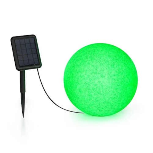 Solární kulová lampa v moderním designu