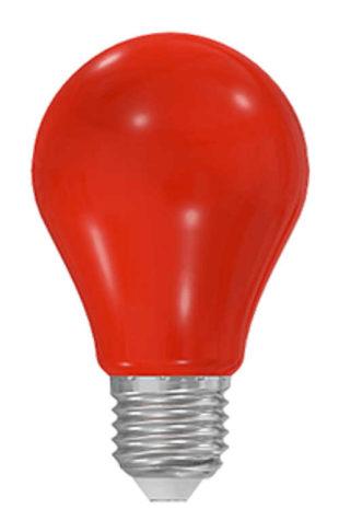 Červená led žárovka 1 W s klasickou baňkou