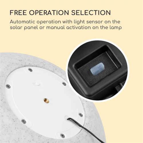 moderní dekorace v podobě solární lampy