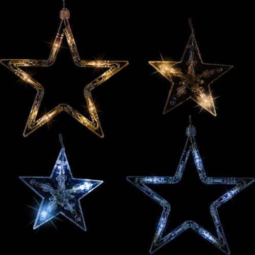 vánoční led závěs hvězdy