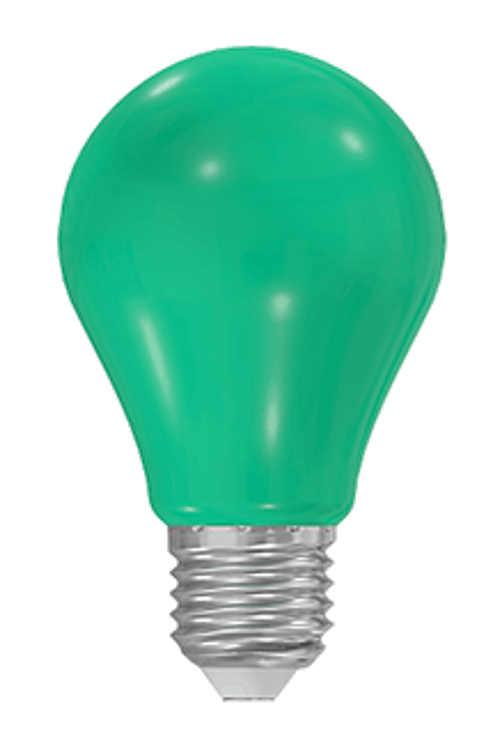Zelená úsporná LED žárovka 1W pro slavnostní výzdobu