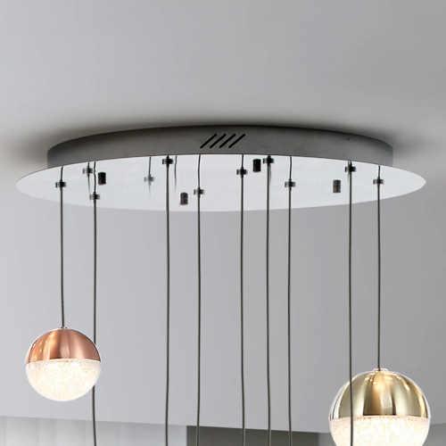LED světlo závěsné 9 koulí