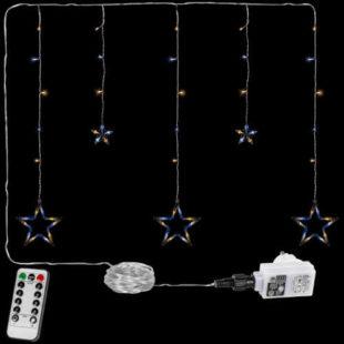 Vánoční LED závěs - 5 hvězd