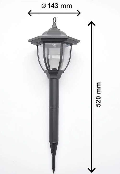solární osvětlení - černá lucerna