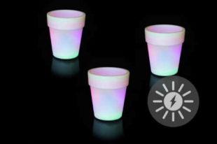 Solární osvětlení - květináč se změnou barev