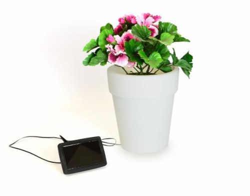 venkovní solární osvětlení - květináč