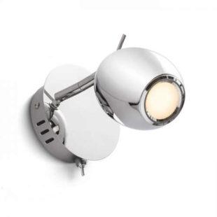 Nástěnná chromová LED lampička