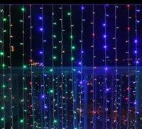 Barevný LED světelný řetěz 3x3 m