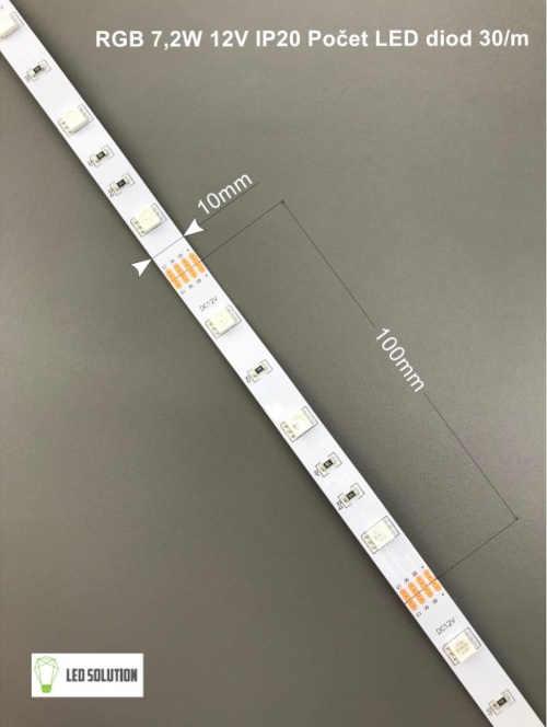 LED pásek RGB 7,2W-m