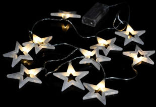 Vánoční osvětlení - třpytivé hvězdy