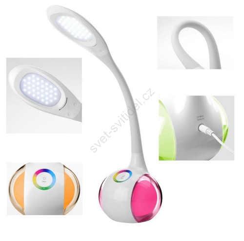stolní LED RGB lampa