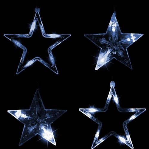 vánoční LED závěs s hvězdami